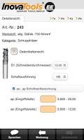 Screenshot of INOCUT – Cutting Data
