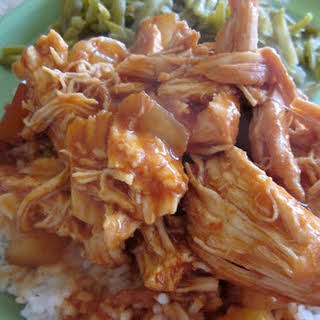 Crock Pot Hawaiian BBQ Chicken.