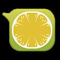 GO SMS lemon bubble Theme