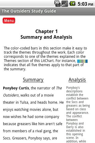 Contrast Essay The Outsiders
