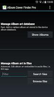 Screenshot of Album Cover Finder