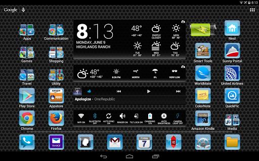 LC Aqua Theme Nova/Apex/Evie Launcher 1.05 screenshots 8