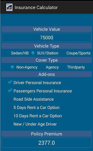 Insurance Calculator Auto