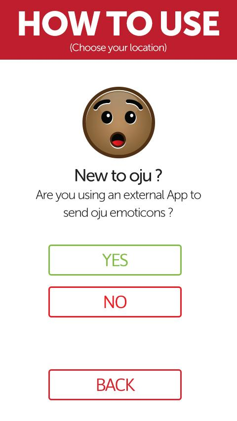 oju emoticon app - screenshot
