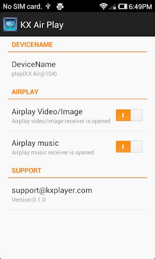 KX Air Play : AirPlay