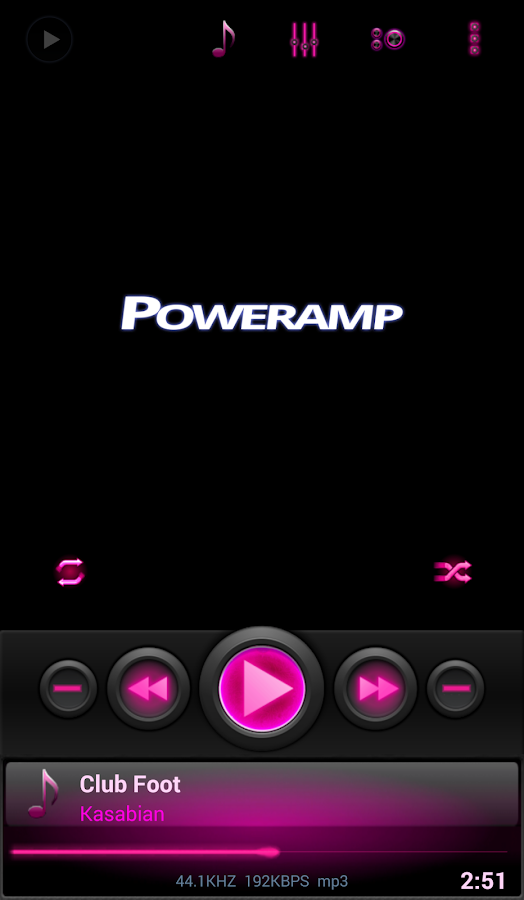 Mad Jelly Pink Poweramp Skin- screenshot
