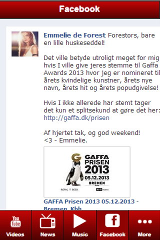 Emmelie de Forest: Videos - screenshot