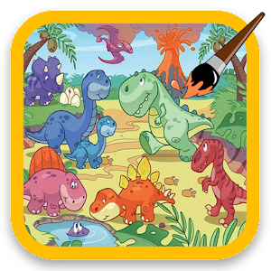 Kid Coloring Dinosaur 休閒 App LOGO-APP試玩