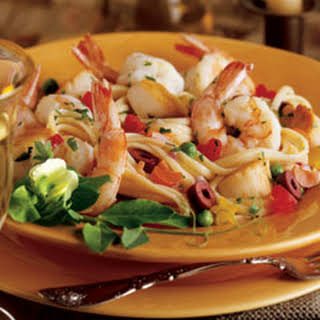 Seafood Linguine With Shrimp And Scallops Recipes.