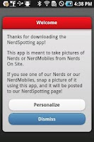 Screenshot of NerdSpotting