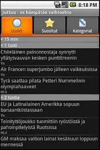 Juttuu (a finnish news client) - screenshot thumbnail