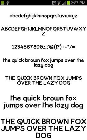 Neat Fonts for FlipFont free 3.16.1 screenshot 1962592