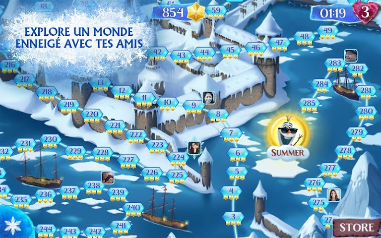 android La Reine des Neiges Free Fall Screenshot 11