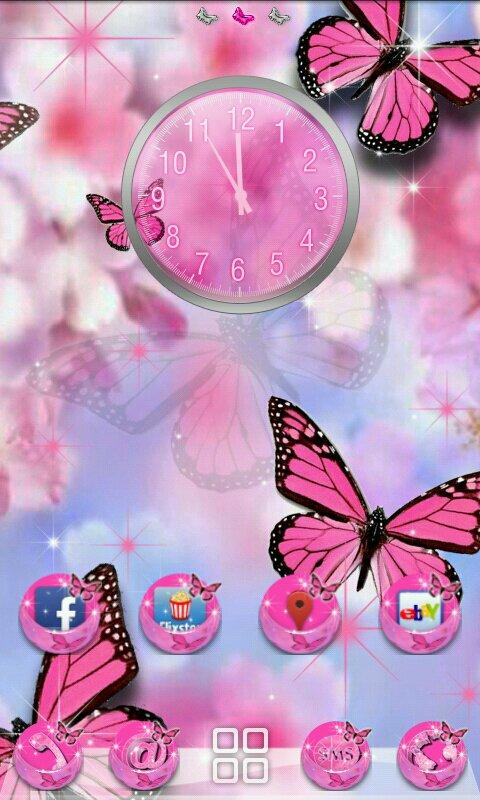 Butterfly theme for GOLauncher- screenshot