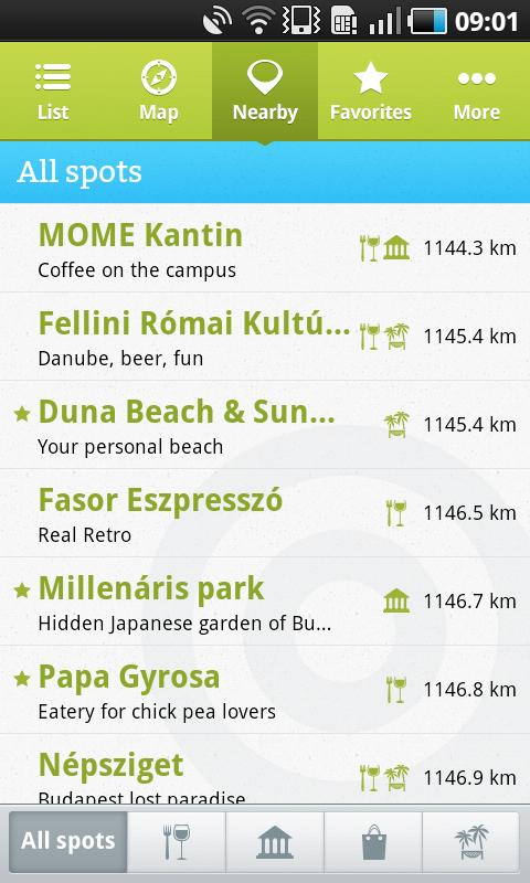 Budapest locals' tips - screenshot