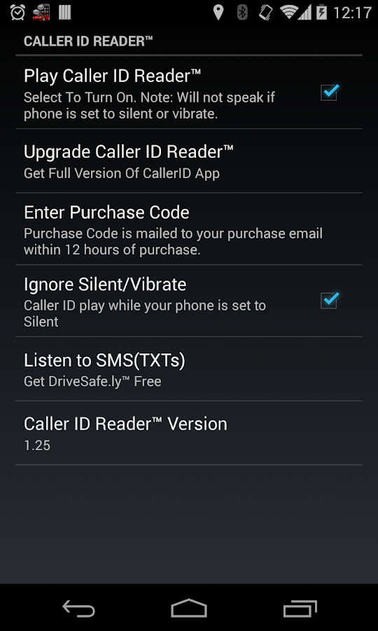 Caller ID Reader - Speak Calls- screenshot