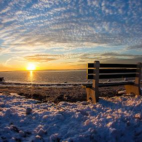 Frozen on the bay by Dave Nilsen - Landscapes Sunsets & Sunrises