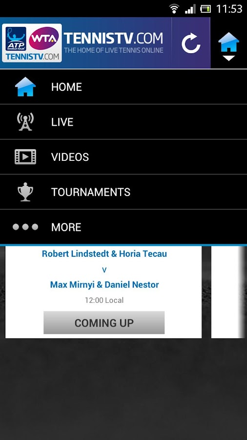 TennisTV EU - screenshot