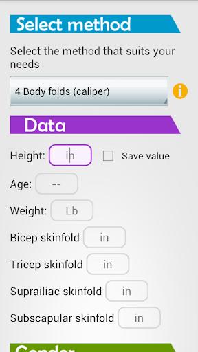 Body fat calculator Pro