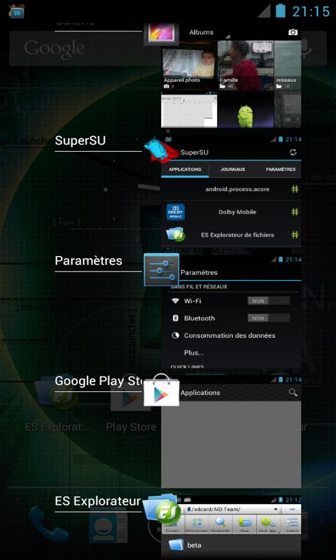 ICS /JB Task Manager /Switcher - screenshot