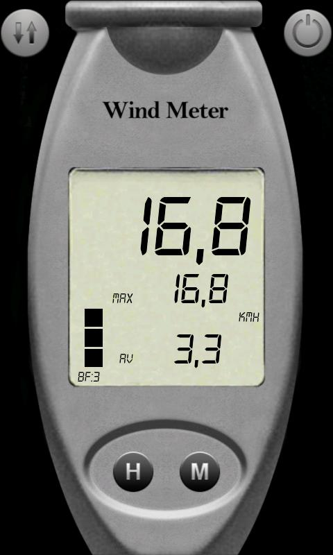 Wind Speed Meter anemometer - screenshot