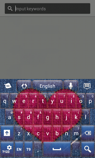 粉紅色的鍵盤心