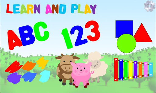 learn and play - educational app for kids. Alphabet 123 app, Shapes app, Colors app, Animals app, Games and more!