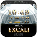 excali digital clock widget logo