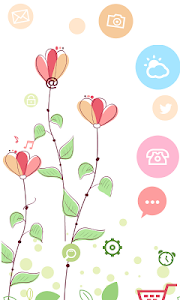 Launcher 8 theme:Flowers screenshot 0