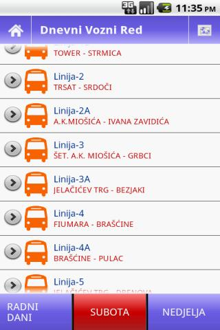 Rijeka Bus - screenshot