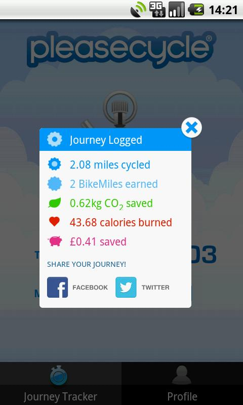 PleaseCycle - BikeMiles- screenshot