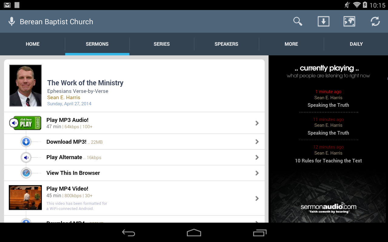 Berean Baptist Church- screenshot