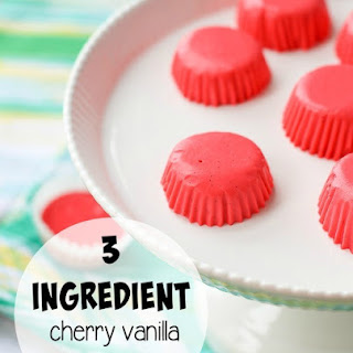 Cherry Vanilla Yogurt Bites
