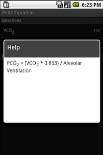 PCO2 Equation Calculator - screenshot thumbnail