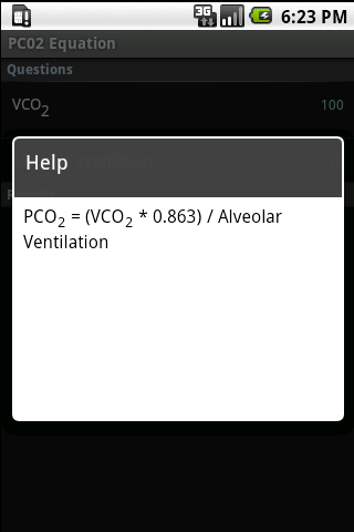 PCO2 Equation Calculator- screenshot