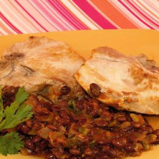 Mexicali Pork Chops With Black Beans