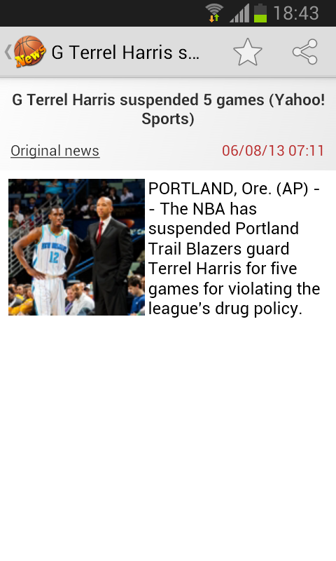 Basketball News- screenshot
