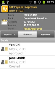SAP Payment Approvals - screenshot thumbnail