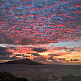 dawn lightshow II by Angeline JoVan - Landscapes Sunsets & Sunrises ( dawn, color, sunrise, landscape, caribbean,  )