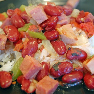 Red Beans and Rice with Ham.