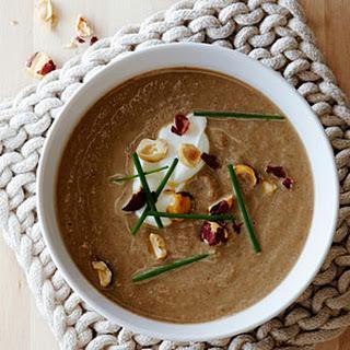 Mushroom Soup with Hazelnuts