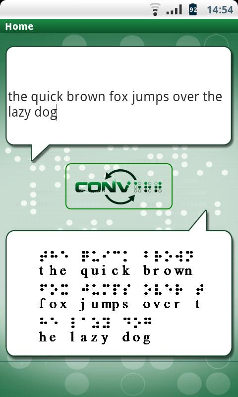 Text To Braille - screenshot