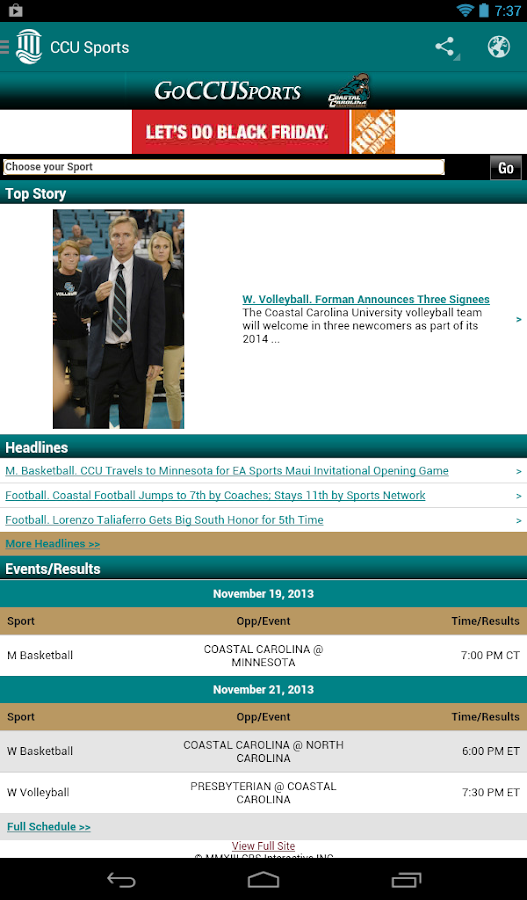 Coastal Carolina University- screenshot