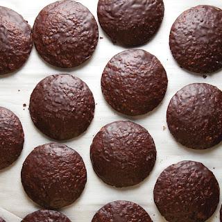Lebkuchen (Chocolate-Glazed Almond Spice Cookies)
