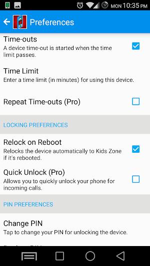14 Kids Zone Parental Controls App screenshot