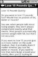 Screenshot of How To Lose Weight Fast