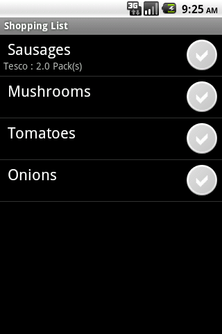 Shopping List- screenshot
