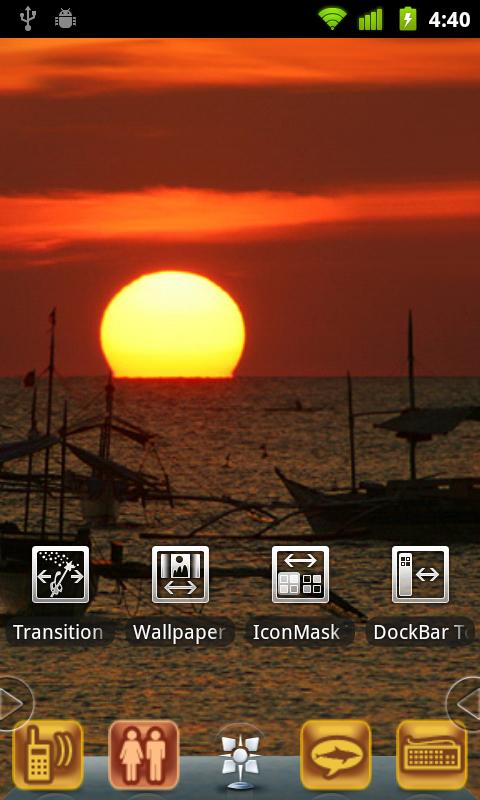 Harbor SunSet Theme - screenshot