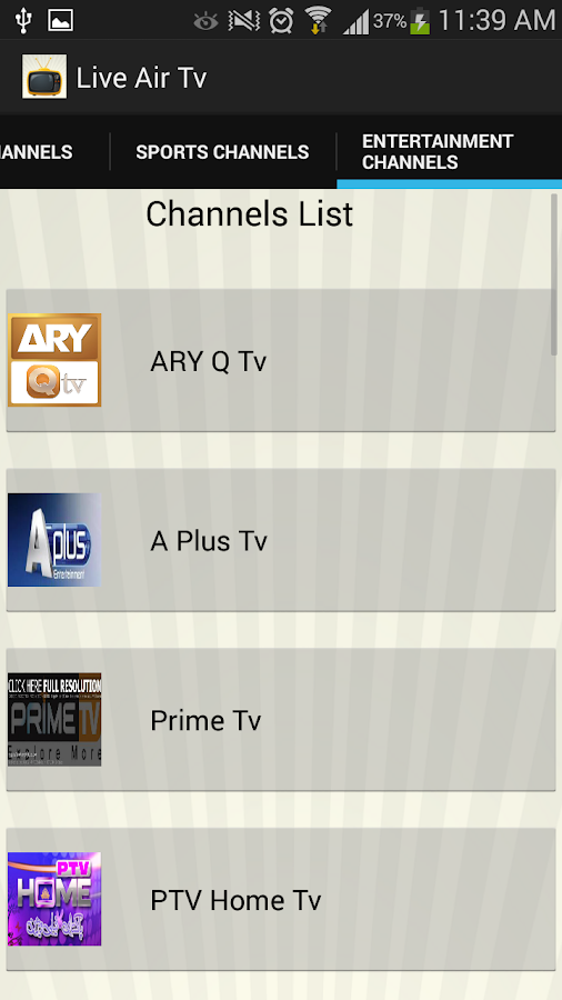 Live Air Tv- screenshot