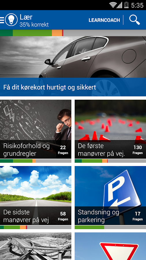 iTeori Trafiktesten Danmark- screenshot